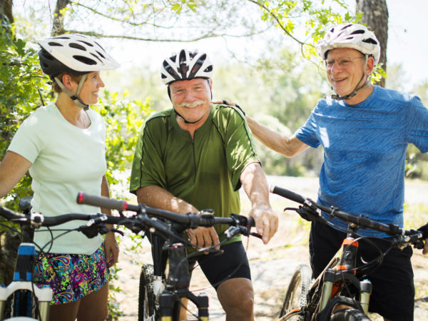 Friends on Bikes - Cycling Is Easy On the Joints