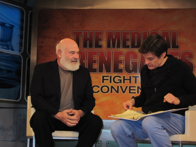 Dr. Weil and Dr. Oz in rehears