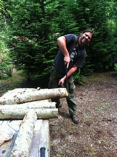 1 Trimming Alder Logs