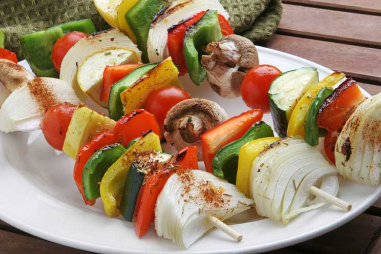 PE: BBQ DT 1 Vegetable Kabob