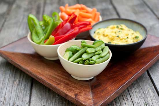 Hummus vegetables