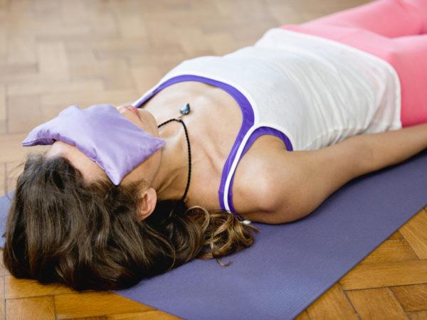 Savasana or corpse position in Yoga