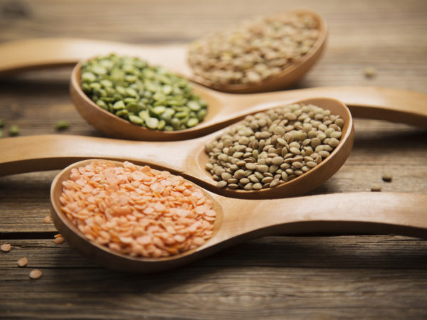 Variety lentils and peas