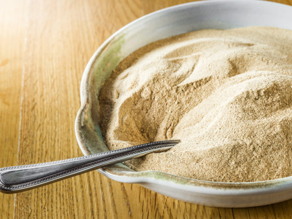 Close-up of Brewer's Yeast in a bowl. This is the inactive form used as a nutritional supplement. Processed in AdobeRGB colorspace.