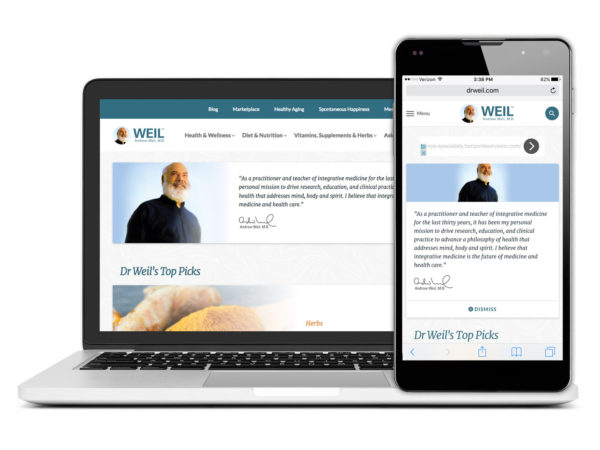 DrWeil.com announces a brand new look and feel!