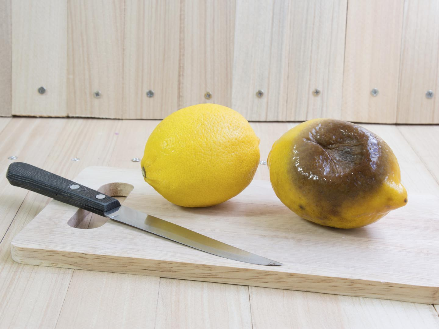 how dangerous is mold on food ask dr weil food safety q a fresh lemon and rotten lemon put on chopping block