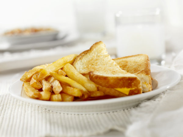 Grilled Cheese Sandwich with French Fries-Photographed on Hasselblad H3D2-39mb Camera