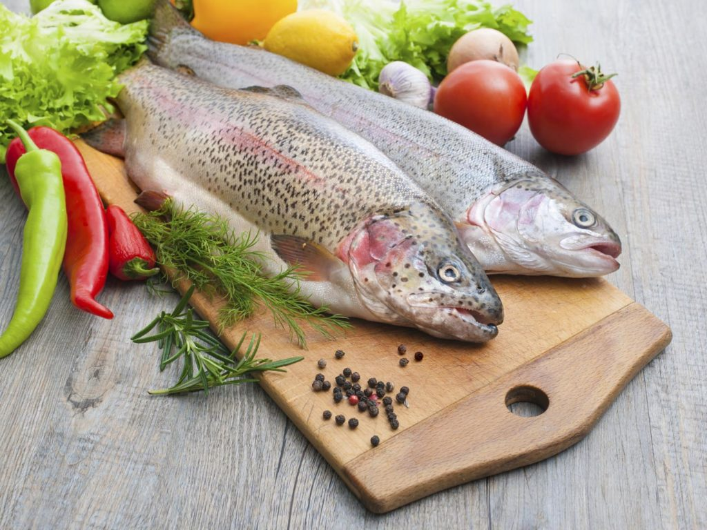 The benefits and calorie content of fish