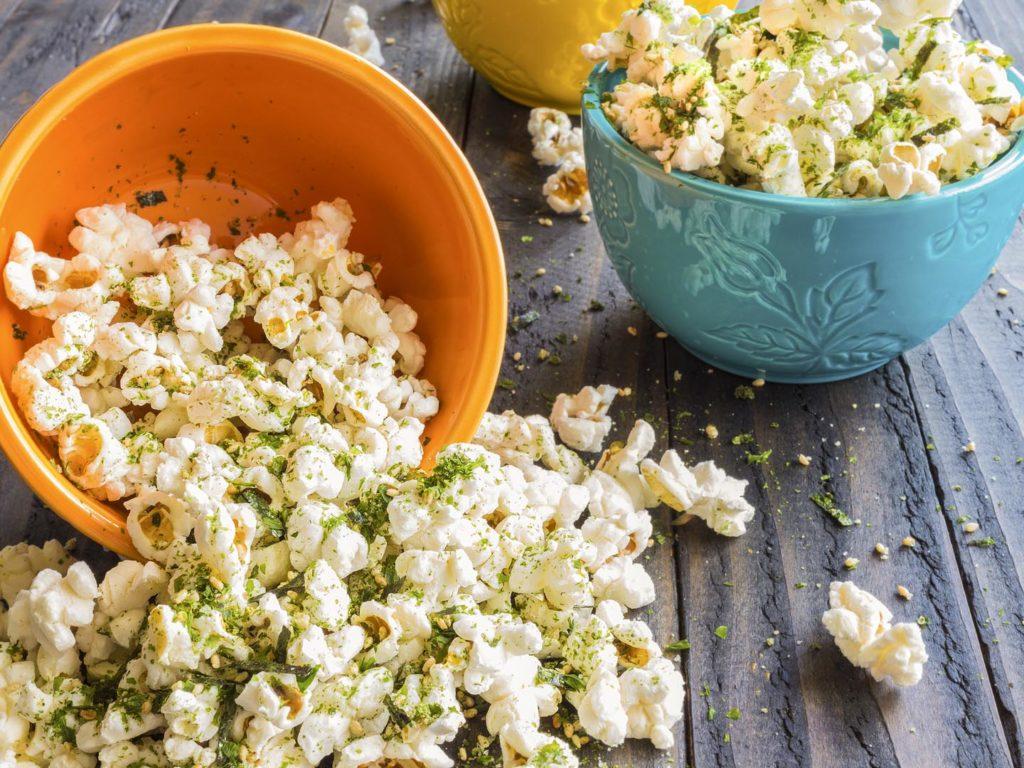 Popcorn Sprinkled With Furikake A Anese Seasoning Made Of Sesame