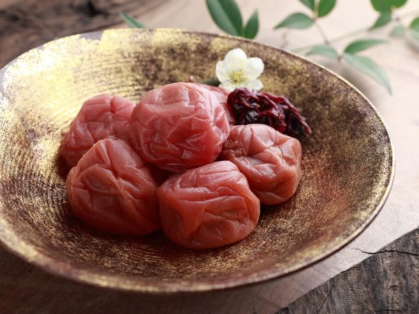 a pickled Japanese apricot.