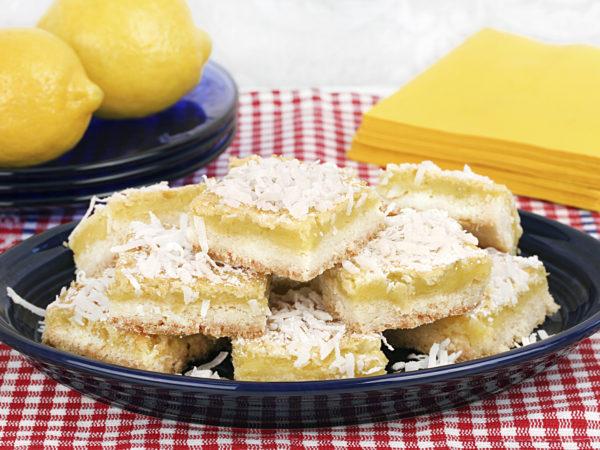 Coconut-Lemon Bars   Recipes   Dr. Weil's Healthy Kitchen