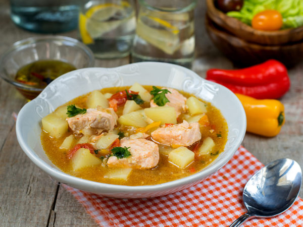 Curried Salmon Soup   Recipes   Dr. Weil's Healthy Kitchen