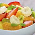 Close - up of mixed fruit salad in the bowl