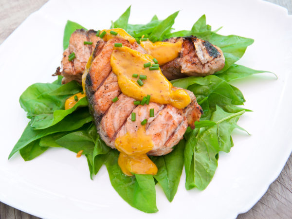Grilled Salmon & Mustard Sauce | Recipes | Dr. Weil's Healthy Kitchen