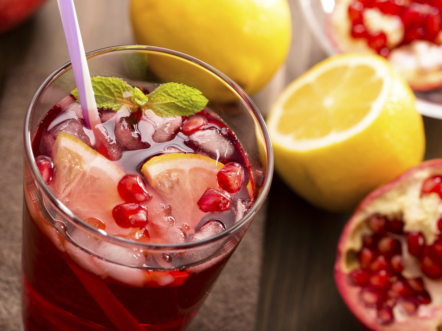 Hibiscus Pomegranate Cooler - Dr. Weil's Healthy Kitchen