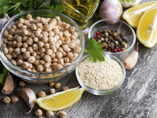 Lemon-Garlic Hummus & Toasted Pita Chips | Recipes | Dr. Weil's Healthy Kitchen