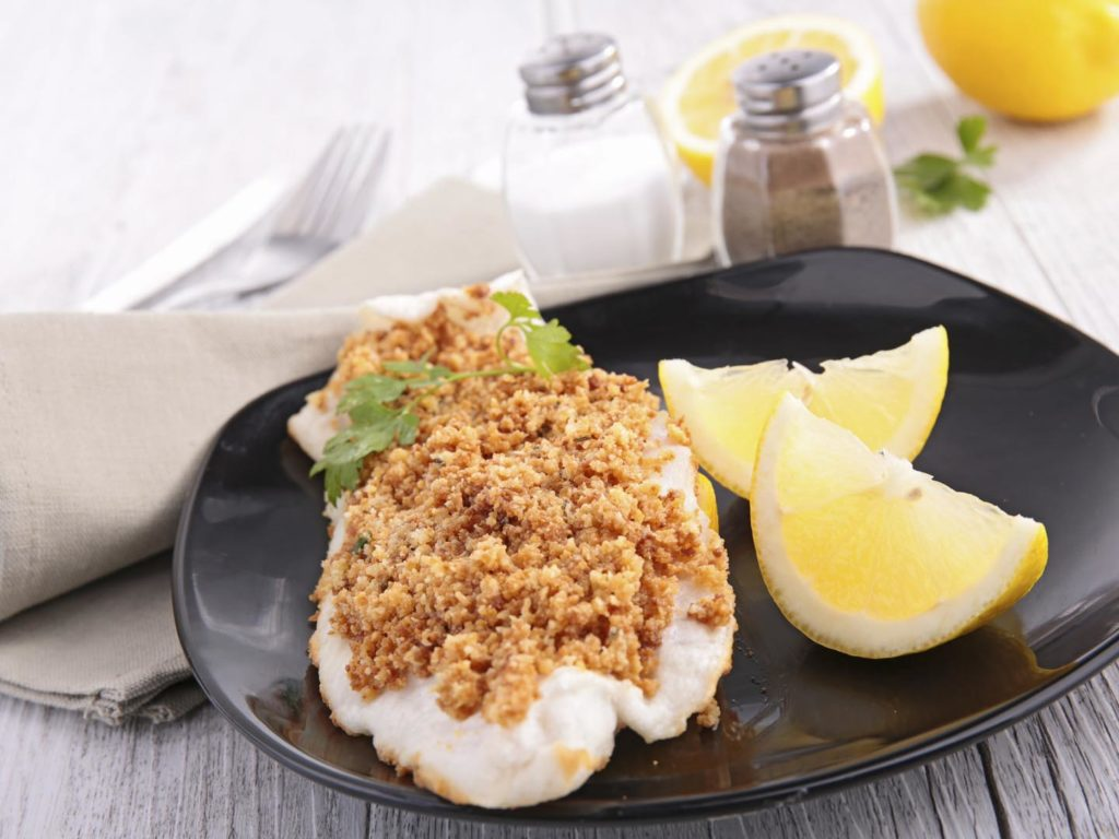 Potato rosemary crusted fish fillets dr weil for Potato crusted fish