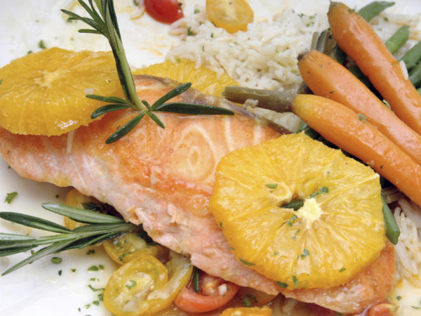 Seared Salmon With Orange Glaze   Recipes   Dr. Weil&#039&#x3B;s Healthy Kitchen