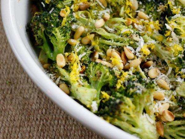 broccoli dish with pine nuts