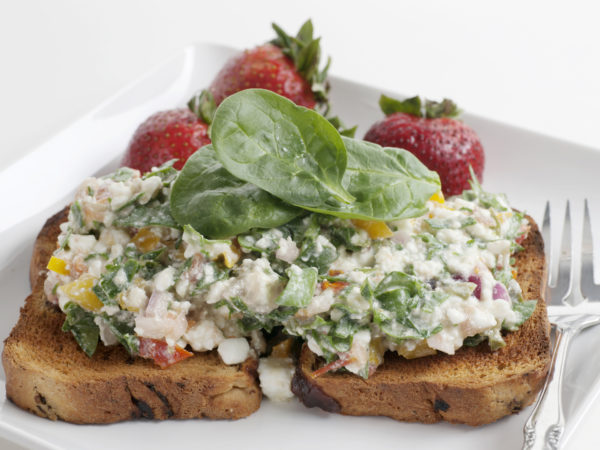 Spinach Toasts   Recipes   Dr. Weil's Healthy Kitchen