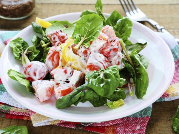 Turkish Spinach Salad   Recipes   Dr. Weil's Healthy Kitchen