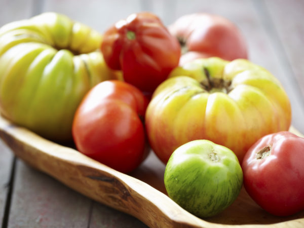 Tight shot of heirloom tomatoes.Please see other tomato images from my portfolio: