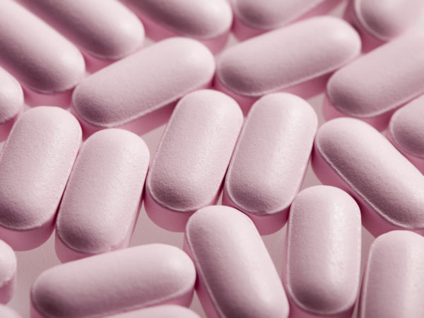 Pink Glucosamine HCL with MSM supplement tablets. You may also like: