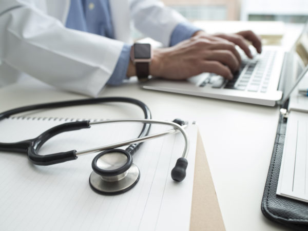 Doctor devoted the data to a laptop