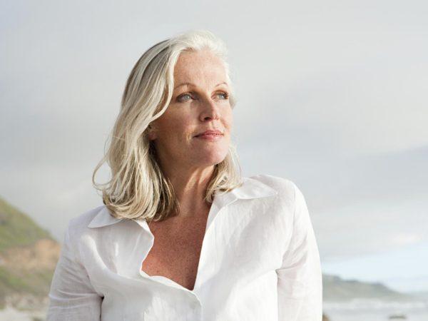 Mature woman at coast