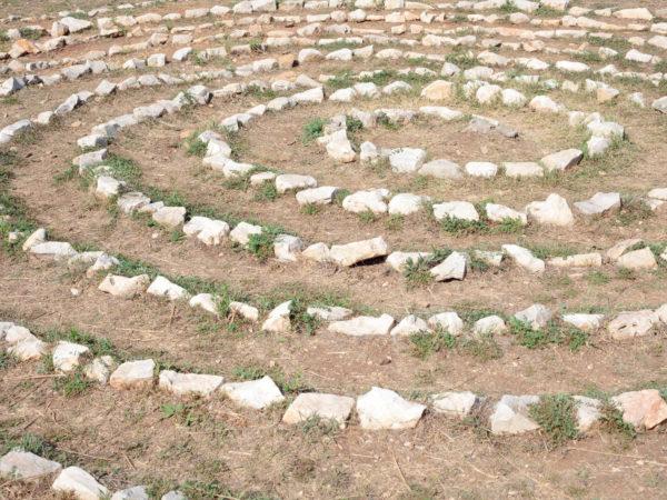 rocks arranged in a spiral