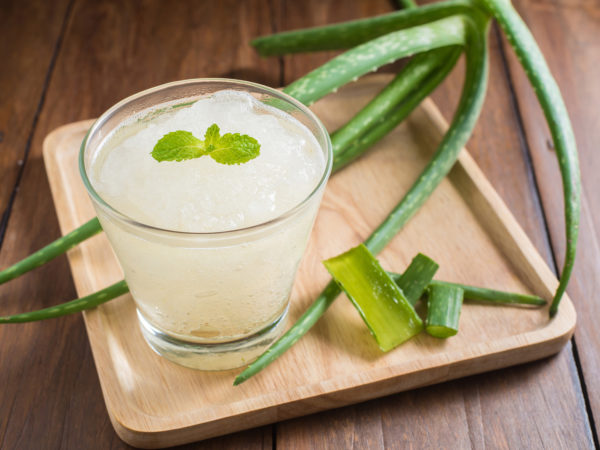Glass of aloe vera juice - Peptic Ulcer Disease