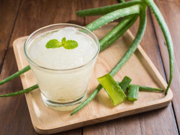 Glass of aloe vera juice - Peptic Ulcer Disease