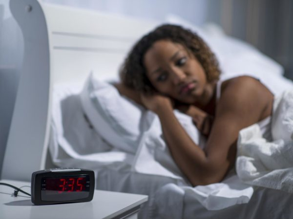 Having trouble sleeping, insomnia caused by stress.