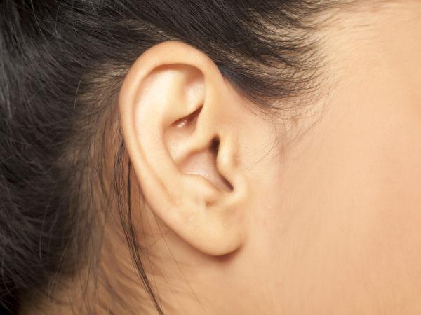 close up of a female ear