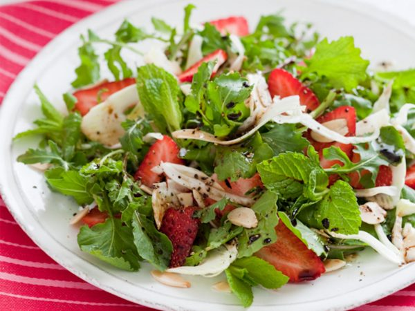 Strawberry, Fennel, & Arugula Salad | Recipes | Dr. Weil's Healthy Kitchen