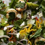 Scallops With Kale Pesto & Feta | Recipes | Dr. Weil's Healthy Kitchen