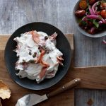 Smoked Salmon With Caper Yogurt and Tomato-Onion Relish | Recipes | Dr. Weil's Healthy Kitchen
