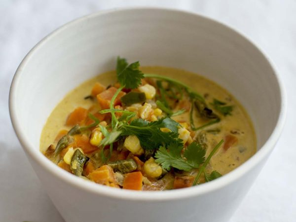 Sweet Potato Poblano Soup | Recipes | Dr. Weil's Health Kitchen