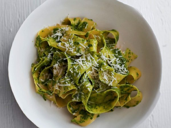 Fettuccine With kale Pesto | Recipes | Dr. Weil's Healthy Kitchen